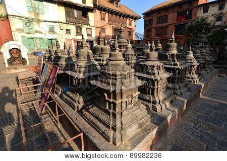 Historical Buildings Of Swayambunath Before The Earthquake That Destroyed Them. Kathmandu, Nepal