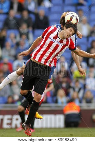 BARCELONA - APRIL, 12: Mikel San Jose of Athletic Club Bilbao during a Spanish League match against RCD Espanyol at the Power8 Stadium on April 12 2015 in Barcelona Spain