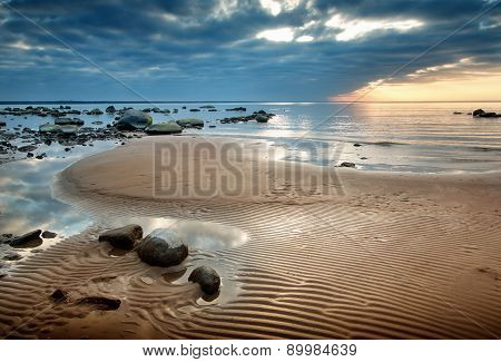 seacoast at sunset