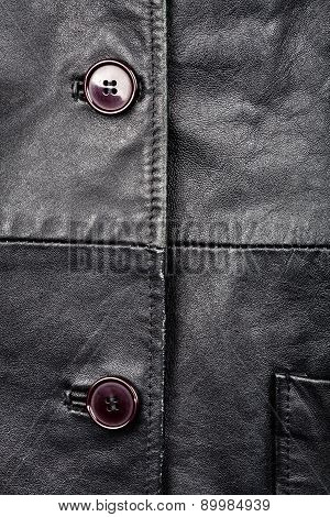 Fragment Of Leather Jacket