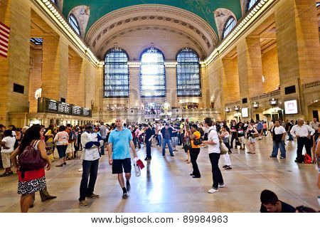 Grand Central Station During The Afternoon Rush Hour