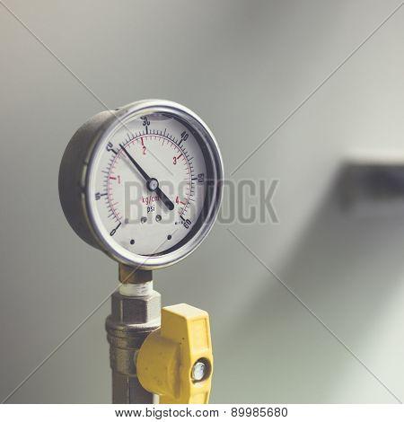 Pressure Gauge Meter Installed