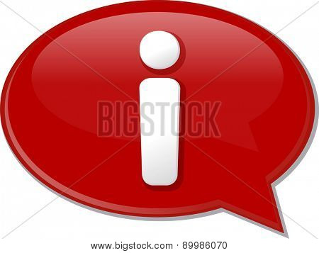 Word speech bubble illustration of discussion forum blog information help support
