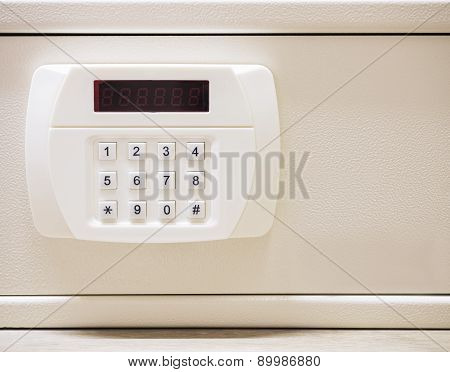 Security Code Button Of Safe Box With Electronic Lock System