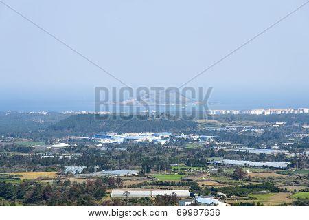 Biyangdo View From The Top Of Jeoji Oreum