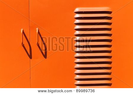 Iron Painted Door Handles And Ventilation Slots