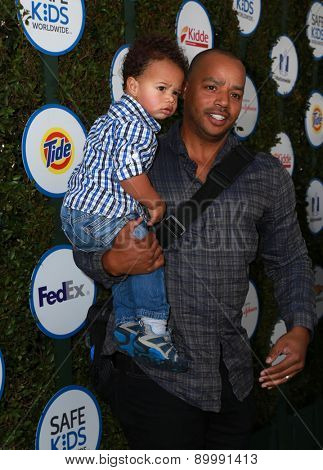 LOS ANGELES - APR 26:  Donald Faison at the Safe Kids Day LA at the The Lot on April 26, 2015 in Los Angeles, CA