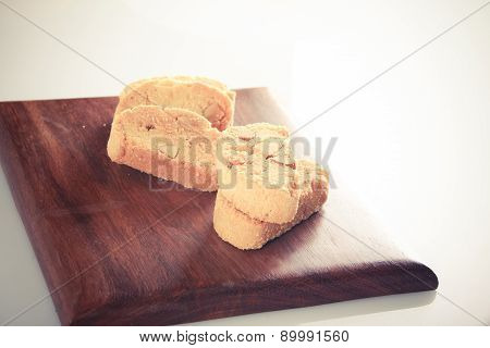 Cookies Set On Wooden Block - Retro Style