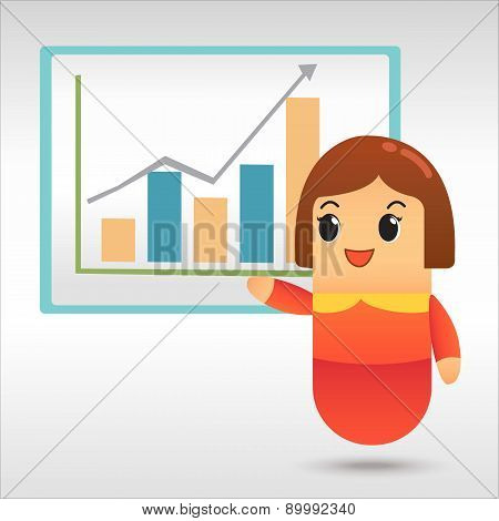 Businesswoman Plan Business Strategy