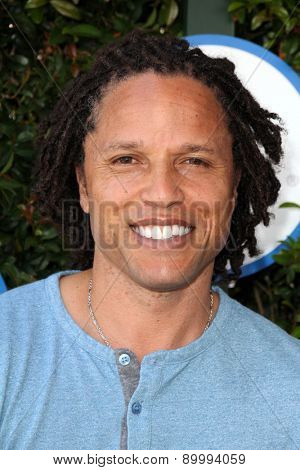 LOS ANGELES - APR 26:  Cobi Jones at the Safe Kids Day LA at the The Lot on April 26, 2015 in Los Angeles, CA