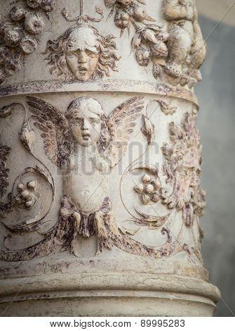 decorative column venice
