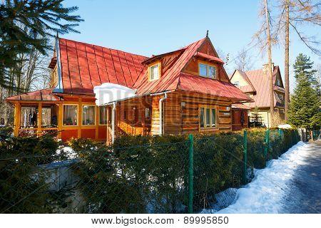 Made Of Wood Residential Building In Zakopane