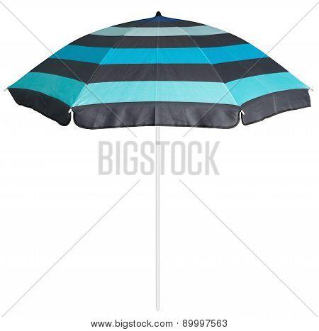 Blue Striped Beach Umbrella