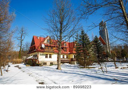 Building Of Recreation Center In Zakopane