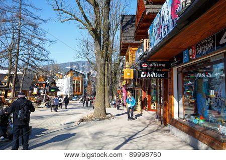 A Part Of Krupowki Street In Zakopane