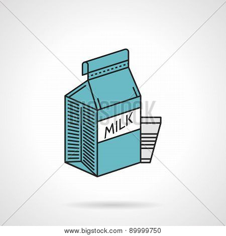 Milk blue pack vector icon