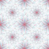 stock photo of chrysanthemum  - Beautiful trendy nature background seamless pattern with blue  - JPG