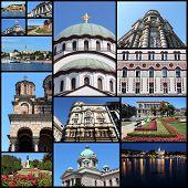foto of serbia  - Belgrade Serbia city travel photo collage - JPG