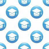 image of ball cap  - Round sign with image of square academic cap - JPG