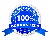 Постер, плакат: Satisfaction Guaranteed Blue Badge