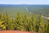 image of butts  - Hazy view of route 97 north in central Oregon from Lava Butte - JPG