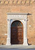 stock photo of ferrara  - Beautiful architecture in the downtown of Ferrara - JPG