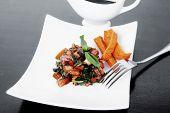 foto of soy sauce  - vegetable salad  - JPG