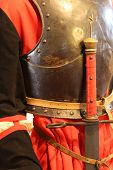 picture of king  - rare antique sword hilt of the King in a medieval castle - JPG