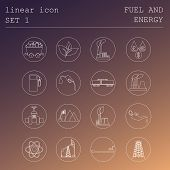 foto of fuel tanker  - Outline icon set Fuel and energyl - JPG