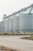 foto of silos  - silos for agricultural goods in a warehouse - JPG