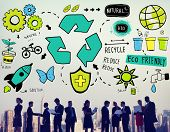stock photo of reuse recycle  - Recycle Reduce Reuse Eco Friendly Natural Saving Go Green Concept - JPG