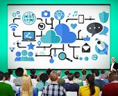 pic of social system  - Social Media Social Networking Technology Connection Concept - JPG
