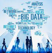 stock photo of network  - Big Data Network Technology Internet Online Concept - JPG
