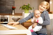 picture of lap  - Businesswoman working from home - JPG