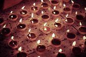 stock photo of diwali  - traditional oil lamp diwali celebration - JPG