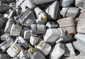picture of landfills  - bunch of gas meters in a contaneir of the landfill of hazardous material - JPG