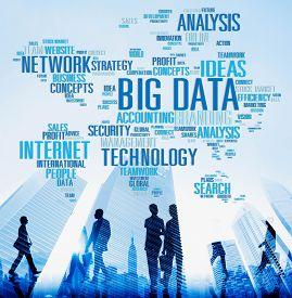 foto of network  - Big Data Network Technology Internet Online Concept - JPG