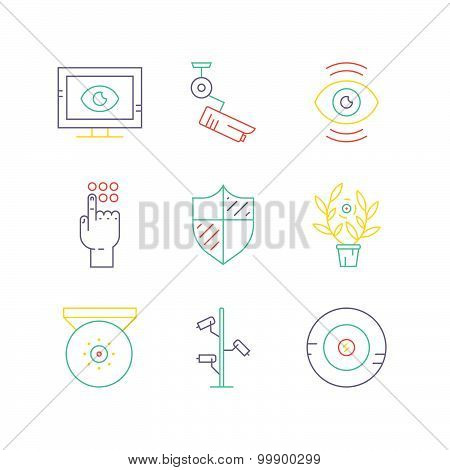 Colored Camera Icons