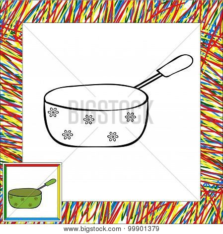 Pan With Handle Coloring Book