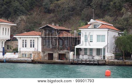 Buildings In Bosphorus Strait