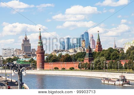 Kremlin, Embankments, Skyscrapers, Moscow City