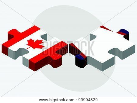 Canada And American Samoa Flags