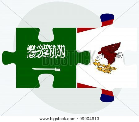 Saudi Arabia And American Samoa Flags