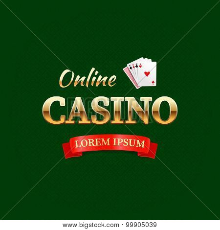 Casino - Logotype Concept, Online Casino Typography Design, Game Cards