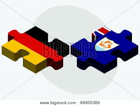 Germany And Anguilla Flags