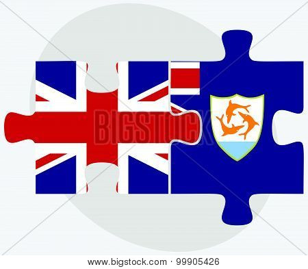 United Kingdom And Anguilla Flags