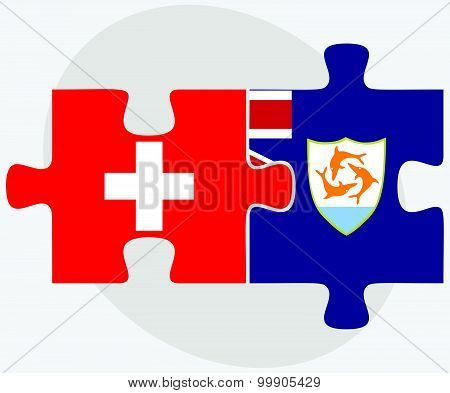 Switzerland And Anguilla Flags