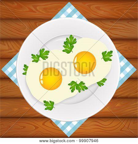 Breakfast Eggs Parsley