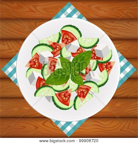 Salad Greek Feta Basil