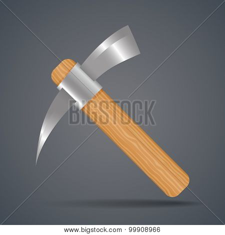 Mining Tools, Shovel And Pickaxe Vector Illustration.